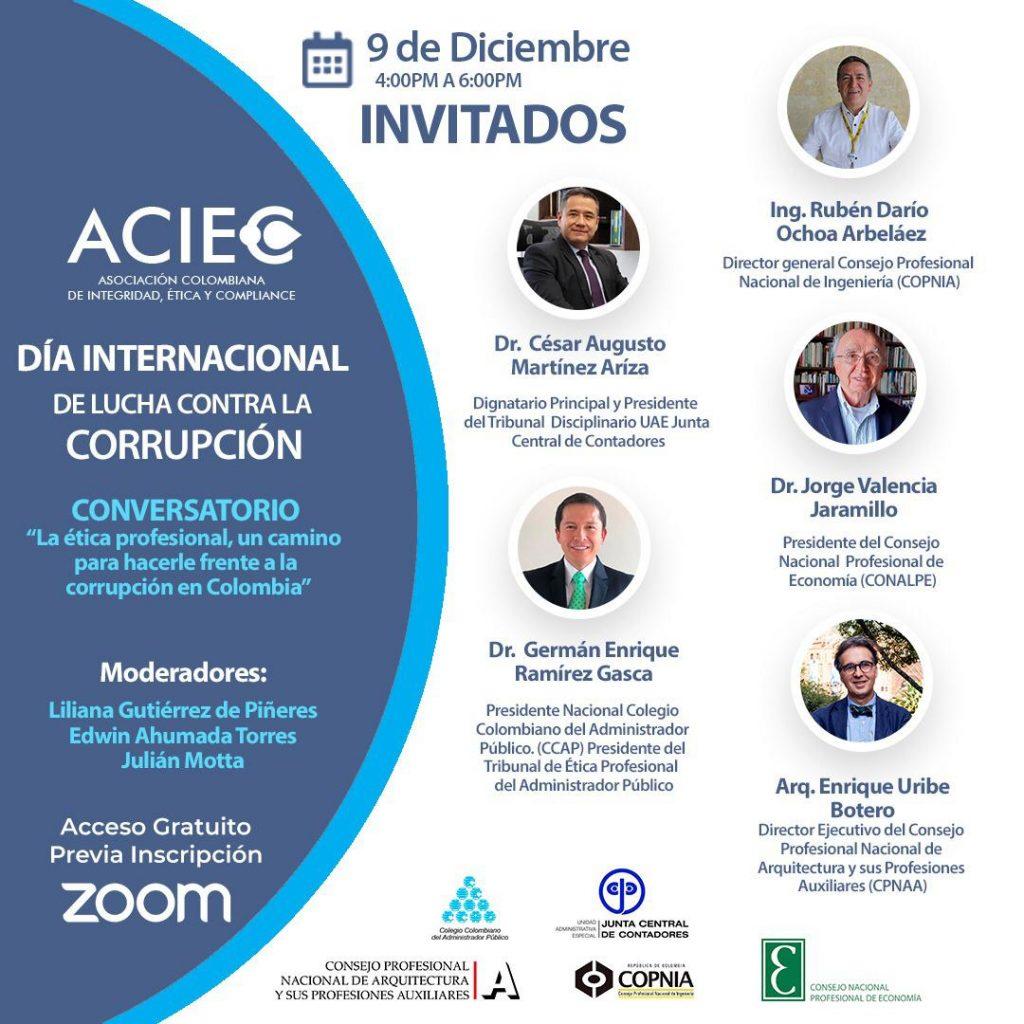 Conversatorio ACIEC - La ética profesional, un camino para hacerle frente a la corrupción